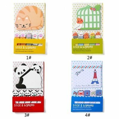 Cute Animal Sticky Notes Memo Pad School Supplies Planner Stickers Stationery