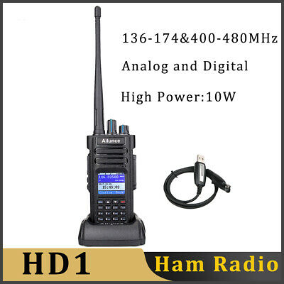 Ailunce HD1 GPS  IP67 TOT Dual Band DMR Digital Walkie Talkies+Programming Cable
