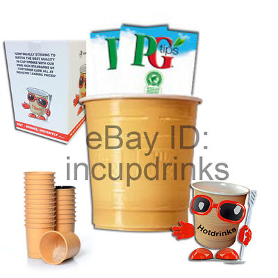 PG Tips 'Bag & Tag' & Instant Tea, In Cup Drinks for 73mm Vending (25 cups)