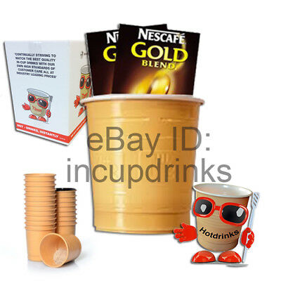 Nescafe Gold Blend Coffee, In Cup Drinks for 73mm Vending (Sleeve of 25 Cups)