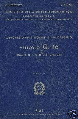 Fiat G 46 1930's  Manual Rare Post WW2 Italian Trainer DETAILED ARCHIVE