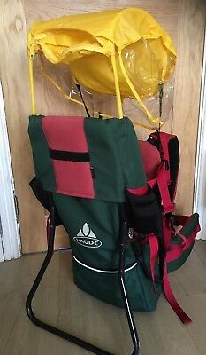 Vaude 'Jolly' Baby carrier/ rucksack/ backpack Rain/sun Shield RRP 129.99