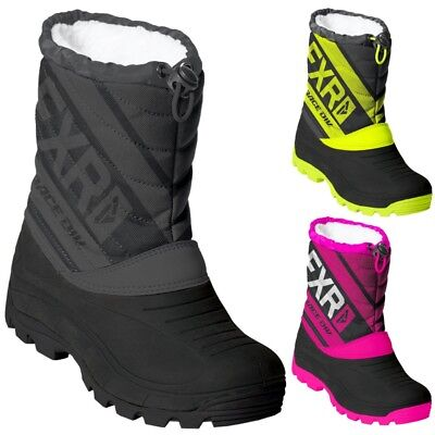 FXR Racing F19 Octane Youth Kids Winter Sports Skiing Snowmobile Boots
