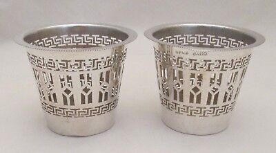 A Vintage Pair of Silver Plated Candle / Tea Light Holders