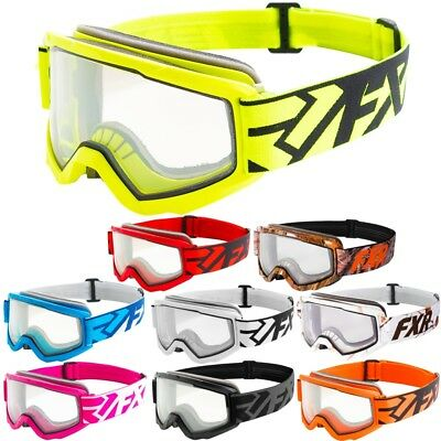 FXR Racing S18 Squadron Mens Winter Sports Skiing Sled Snowmobile Goggles