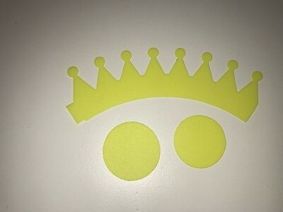 Hair bow template Crown