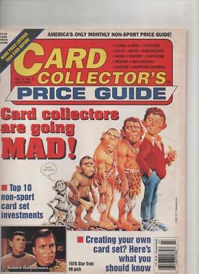 Card Collectors Price Guide  #3 July 1993  USA Very Fine condition