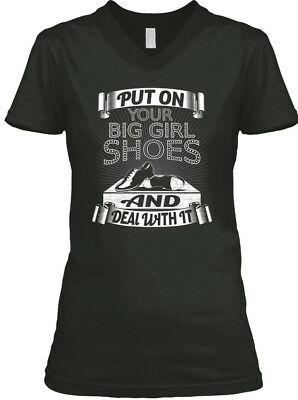Put On Your Big Girl Shoes - And Deal With It Women's V-Neck Tee