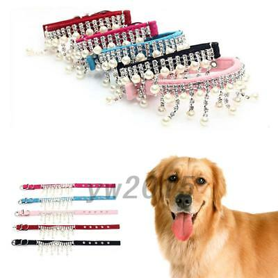 Luxury Pet Dogs Puppy Collar Bling Sparkles Rhinestone Necklace AU Post