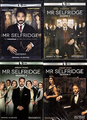 Mr. Selfridge: Season 1-4 Complete series 1 2 3 4 12 DVD Set NEW FREE Shipping