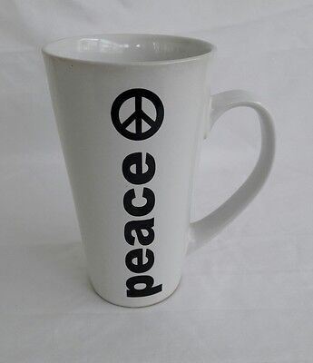 Global Design Connections Kate Williams Tall Love Peace Coffee Mug