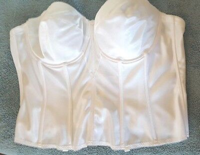 Dominique Intimate Apparel Size 48C White Strapless Corset Bustier Bra - Nwots