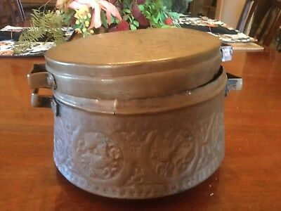 Copper Turkish Middle Eastern Cooking Pot with Lid