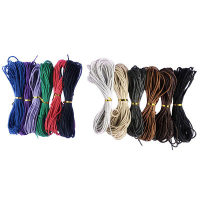 DIY Bracelet Waxed Cords Strings Thread (10M, Mixed Colors, 2mm)