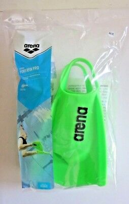 (Acid Lime, 11 - 11.5) - Arena Powerfin Pro Swim Training Fins New Free shipping