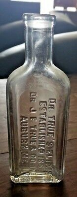 c. 1851 Quack Medicine Bottle Dr. True's Pin Worm Elixir Laxative Auburn Maine