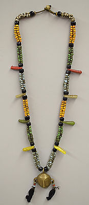 Necklace Naga Brass Head Pendant India Colorful Beaded Glass Necklace