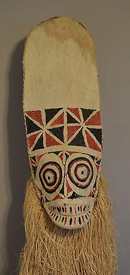 Papua New Guinea Mask Baining Female Day Dance Mask Bark Cloth Baining Mask