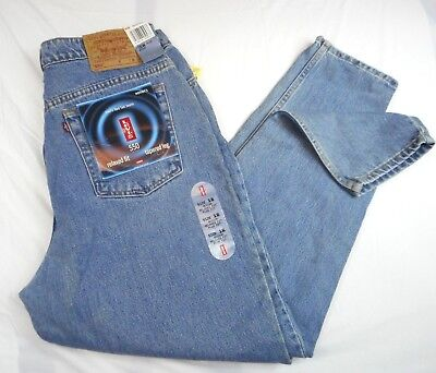 NOS Women's Levis 550 Relaxed Fit Tapered Leg Denim Blue Jeans Size 16 W M 34/32