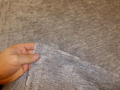 Job Lot 10m rolls of SILVER GREY - Chenille Upholstery / Curtain Fabric (Ernest)