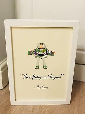 Disney Toy Story Buzz Lightyear Quote A4 Print Art Framed Gift Home Christening