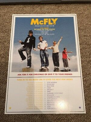 Mcfly Single Room On The 3rd Floor Promo Flyer Double Sided Size A5