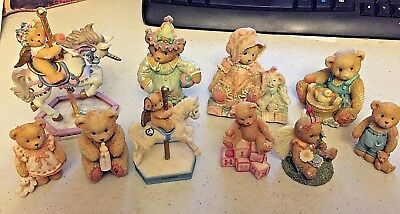 Cherished Teddies Lot of 10 from 90's and 2000's Rare Vintage Priscilla Hillman