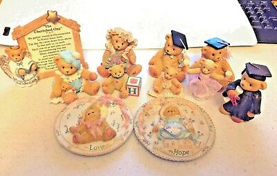 Cherished Teddies Lot of 11 from 90's Rare Vintage Priscilla Hillman Free Ship