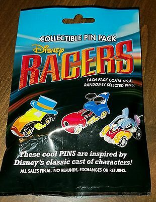 Disney Pins Racers NEW 2016 5 Pin Mystery Pack  FREE SHIPPING