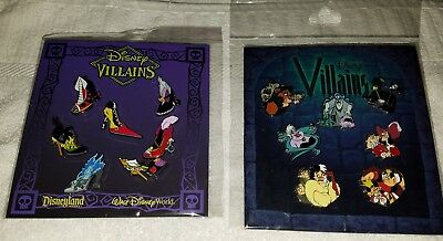 Disney Pins Villains & Villain Heels / Heels Booster Sets  Authentic Free Ship