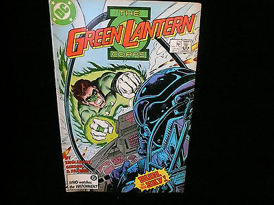 The Green Lantern Corps DC Comic Sept. 1987 Issue #216 Duel In The Sky! DC Comic