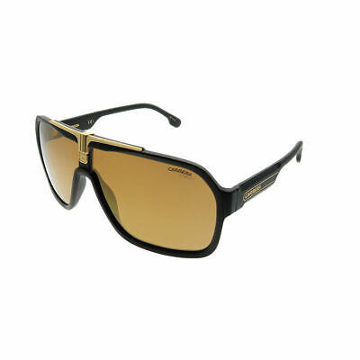 d10542c3ed Carrera 1014 S I46 K1 Black Gold Plastic Aviator Sunglasses Gold Mirror Lens