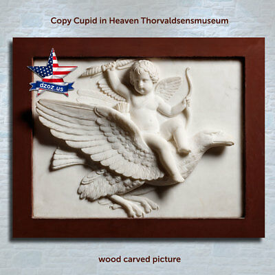 DZOZ❤️Cupid in Heaven❤️thorvaldsens museum✅Wood carved picture art✅icon