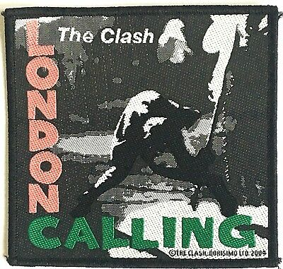 THE CLASH London Calling Woven Patch Cloth Badge Sew On OG 2004 Official PUNK