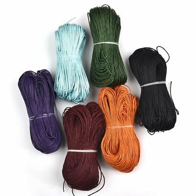 80m 1mm Cotton Braided Waxed Cord DIY Choker Necklace Bracelet Jewelry Findings