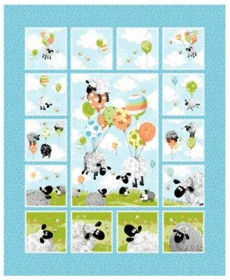 Susybee * Lewes Ballons 11 Quilt Panel  * Free Post * 🐑 *New*