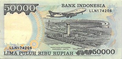 Indonesia 50,000 Rupiah 1998 P 136d Series LLN Circulated Banknote SP518