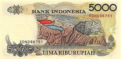 Indonesia 5000 Rupiah 1992 P 130a Series XDN Uncirculated Banknote