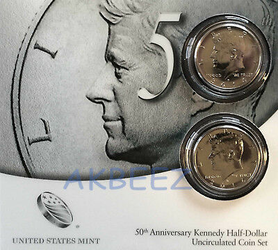 ** 2014 50th Anniversary Kennedy Half Dollar Set - High Relief K14 SHIPS FREE **