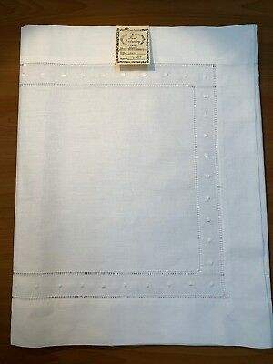 :G8648C Hand Embroidery, Irish Linen Colored Swiss Dot Guest Towels Set of 2