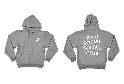5f67262a6a8c ANTISOCIAL SOCIAL CLUB Heather Grey Pullover Hoodie -  24.00