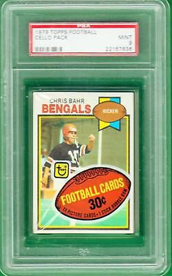 1979 Topps Football Card Unopened Cello Pack - Psa 9 Mint