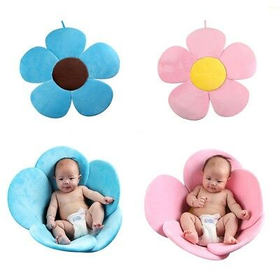 New Baby Bathtub Flower Foldable Blooming Mat Soft Newborn Bath Tub Seat 80X80cm