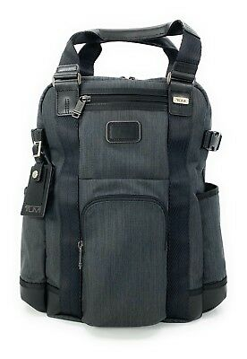Tumi Birchman Convertible Laptop Business Casual Backpack Tote Bag Charcoal Gray