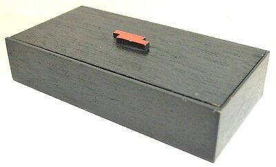 Japanese Box Wood Natural Red Black Lacquer Lid Accessory Antique