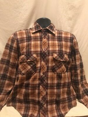 Grizzly wool Flannel Vintage long sleeve shirt, size L