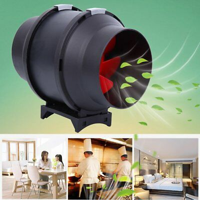 "6"" Inline Duct Fan Hydroponic Tent Extractor Booster Blower w/ Speed Controller#"