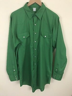 Vintage 1960s / 1970s Men's Western Shirt San Francisco Made In USA Fits Like XL