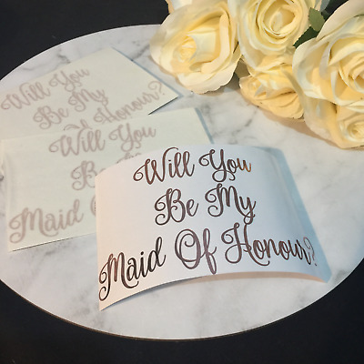 Will You Be My Bridesmaid, Maid Of Honour Decal for Gift Box - DECAL ONLY