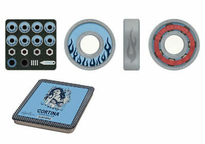 Cortina Skateboard Bearings Elijah Berle Signature Pro Rated Silver Blue